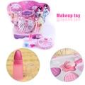 Kids Girls Funny Makeup Toy Cosmetics Eyeshadow Box Lipstick Rings Pretend Play Toys