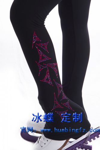 ФОТО Skating trousers spandex high-elastic skating training pants clothes free shipping