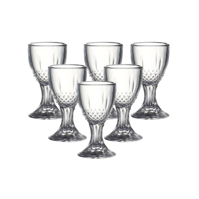 358c28e7c7 Set of 6 0.5 ounce Chinese baijiu shot glasses machine made lead free glass  liquor glass for bar party 15ml