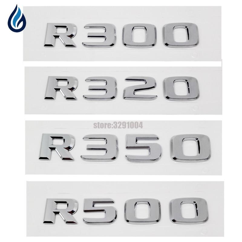 For Mercedes Benz R Class W204 W203 W211 W210 W212 W251 W251 R300 R320 R350 R500 Number Letter Rear Trunk Emblem Badge Sticker black plastic a 160 a 180 a 200 rear trunk lid emblem letter sticker for mercedes benz a class w168 w169 w176 a180 a200 a200