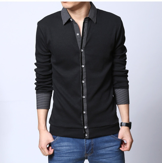 Big Size M L XL XXL-5XL New 2015 Arrival Thin Long Sleeve T Shirt Men Casual Slim Fit  CottonT-shirt A0433