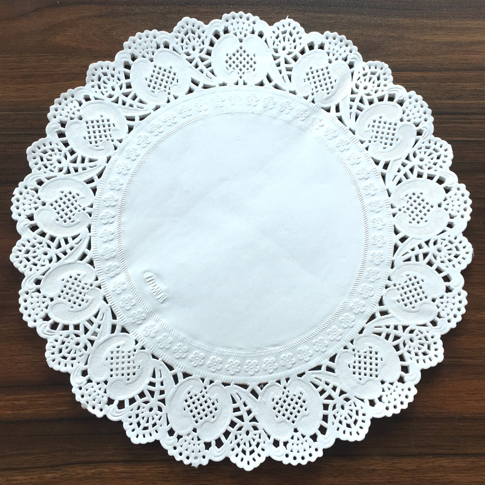 50Pcs 11 5 quot diameter 29cm Vintage napkin Hollowed Lace Paper mat Crafts Scrapbooking Card Halloween Wedding Decoration in Mats amp Pads from Home amp Garden