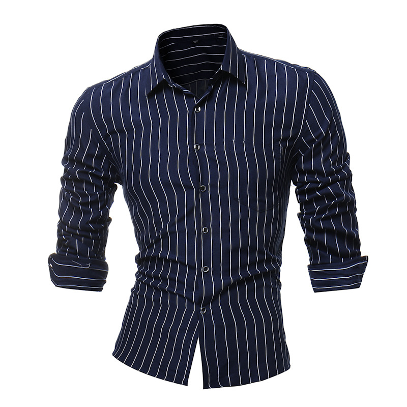 Shirt Men 2018 New Striped Long Sleeves Mens Dress Shirts Camisa Masculina Spring Summer Brand Casual Male Shirt Tops 4XL YUJIE ...