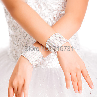 Stage Performance Rhinestones Wristbands Arm Warmers