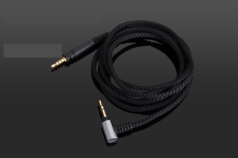 4FT/5FT Black Replacement Audio nylon Cable For Ultrasone performance 840/860/880 Signature Pro/DJ & Performance HEADPHONES