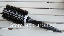 Retail ceramic hair brush/hair brush professional/100%Nature Boar Bristle Hair Brushes,Size:25*dia 6.0cm,14Rows+Free Shipping