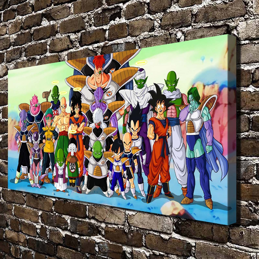 A2799 dragon ball z wallpaper children 39 s cartoon hd for Dragon ball z living room