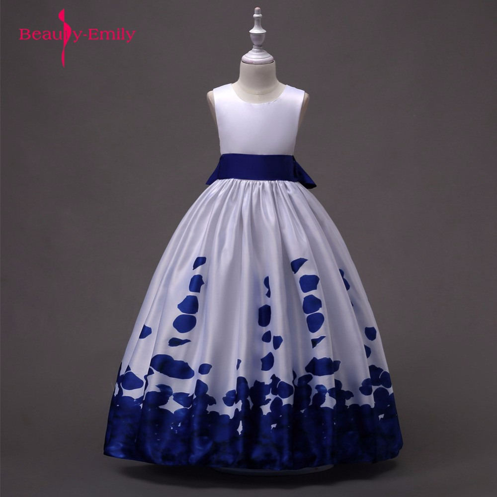 2018 Flower Girl Dress Purple Lovely Dress For Kids Sleeveless