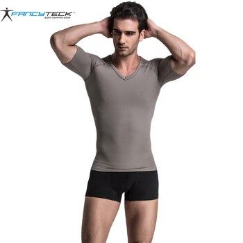 Men's T-shirt Men Solid Color Slim Fit Short Sleeve Compression Shirt Men's Limited Edition T-shirt Absorbent Comfortable Casual