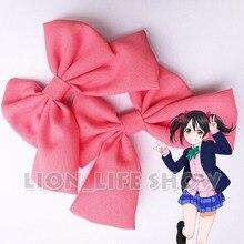 Lovelive Love Live Nico Yazawa; красный галстук-бабочка, заколка для волос аксессуары для косплея