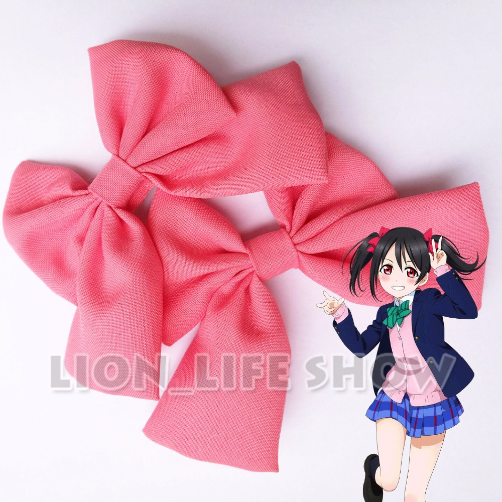 Lovelive Love Live Nico Yazawa Red Bow Tie Headwear Hair Clip Cosplay Accessary