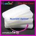 10 / 20 unids Clip On caso de gafas de sol polarizadas Clip On de plástico duro caso 147 x 55 x 24 mm envío gratis CPCS