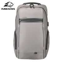 Kingsons Waterproof Men Women Backpack With Sucker USB Charge Laptop Computer Backpack 13 3 15 6