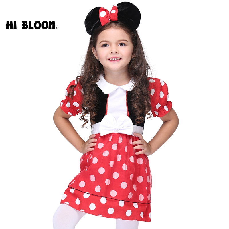 Hot Mickey Minnie Cosplay Costume Halloween Costume Dresses for Kids Girl Performance Dance Clothes Christmas Cartoon Costume