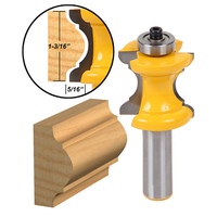 HOEN 1pcs 1 2 12 7mm Shank Router Bit Milling Cutters Bullnose With Bead Column Face