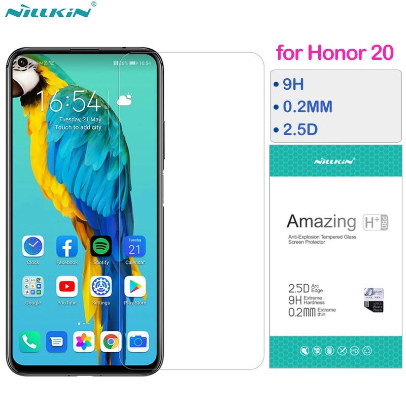 Nillkin Vidro Temperado para Huawei Honor 20 Vidro em 9H 2.5D Honor20 Pro Protetor de Tela 0.2 MILÍMETROS Película Protetora para Honra 20 Pro
