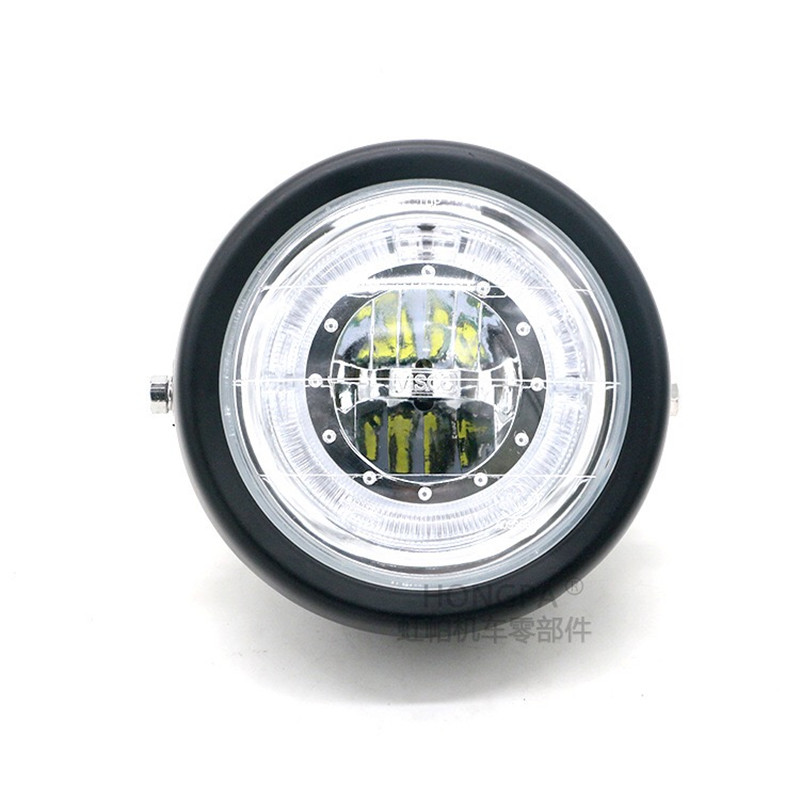 Image 2 - Motorcycle LED Headlight Hi&Lo HeadLamp Bulb With Angel Ring for Harley Sportster Cafe Racer Bobbe