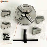 SANOU marque K12-100 mandrin auto-centrant à quatre mâchoires 100mm 4 ''tour à mandrin avec acier trempé à prix discount