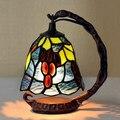 Тиффани Европейский Настольная Лампа Американский Креативный СВЕТОДИОДНЫЙ Настольная Лампа Спальня Прикроватный Свет Гостиная Искусство Декора Небольшой Ночник