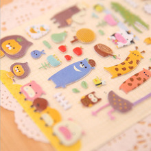 New cartoon Animal Farm perspective bubble stickers diary For Notebook Scrapbook Card Papers decorative stickers