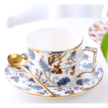 Fashion British ceramic coffee cup set high quality bone china tea afternoon Saucer birthday gift for friend
