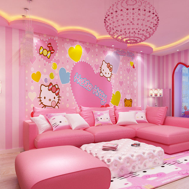 Modern Room Wall Papers Home Decor Pink Strip Wallpaper For Girls Bedroom Child  Room Wallpaper Roll Vertical Stripped Wallpapers