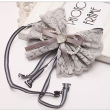 Women Elastic Bra Strap Accessories bowknot Lace elastic Anti-slip Adjustable Clearance price