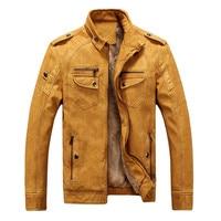 2017 Caliente de la Alta calidad nueva moda de invierno capa de los hombres, chaquetas de los hombres, chaqueta de cuero de los hombres Abrigo caliente envío gratuito