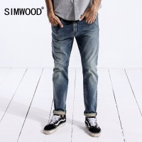 SIMWOOD Brand Mens Jeans 2019 Fashion Casual Male Denim Pants Skinny Trousers Cotton Classic Straight Jeans High Quality 180332