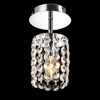 Mini LED Stainless Steel Crystal Chandeliers Pendant Flush Mount Ceiling Chandelier Room Aisle Lights 110V 260V