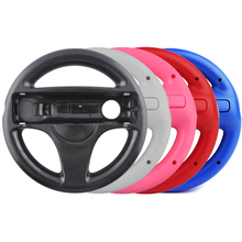 10 pces 5 cor durável volante de plástico para nintend para wii mario kart jogos de corrida controle remoto console