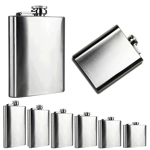 New Arrival Portable 4 5 6 7 8 10 Oz Stainless Steel Hip Liquor Whiskey Alcohol Flask Cap BIAH