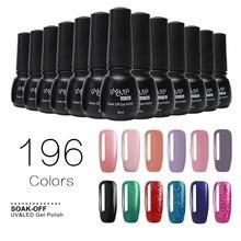 196 Colores 8 ML UV Esmalte de Uñas de Gel Empapa del Barniz Laca UV LED Lámpara de Uñas Profesional Arte Kit Gelpolish (81-100) NAG12