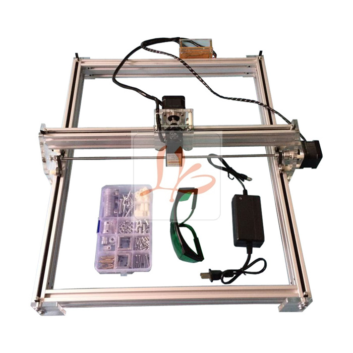 LY 5040 5500MW Blue Violet Mini DIY Laser Engraving machine IC Marking Printer Carving Size 50*40CM,free tax to russia ly 40 photo cnc router ring engraving machine metal milling marking machine usb connection free tax to russia