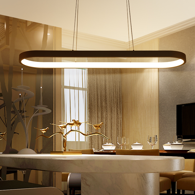 Ny ankomst aluminium vit hängande ljuskrona för matsal kök rum - Inomhusbelysning