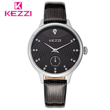 2016 K-1379 Mejor Calidad KEZZI Mujeres de la Marca de Relojes Mujeres Causal Reloj Relogio Feminino Señoras de Lujo Regalo QuartzWatch KZ01