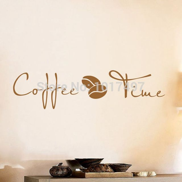 Coffee Wall Art Decal Sticker , Vinyl Coffee Wall Stickers For Coffee Shop  Or Office Decor Part 44