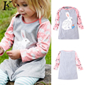 Girls Dress Fashion New Baby Girl Clothes Spring Kids Cotton Long Sleeves Cartoon Embroidery Dresses For Girls Children Clothing