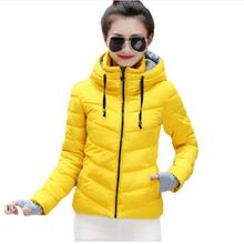 Spring Autumn women winter jacket short cotton padded womens coat autumn casaco feminino inverno solid color parka stand collar hooded long printing casaco feminino inverno 2017 warm thicken cotton padded winter jacket women female coat parka women s
