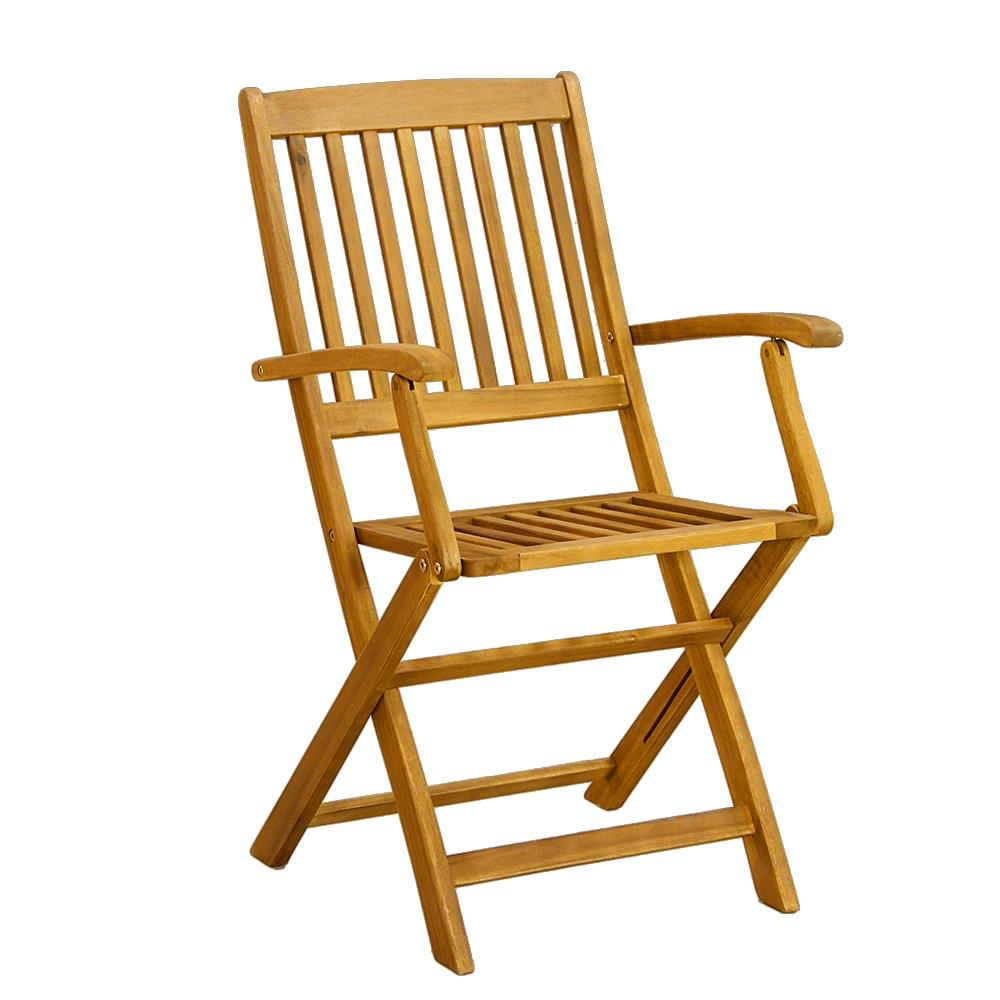 Sydney jardín Set 1 mesa 6 silla plegable al aire libre eco madera ...