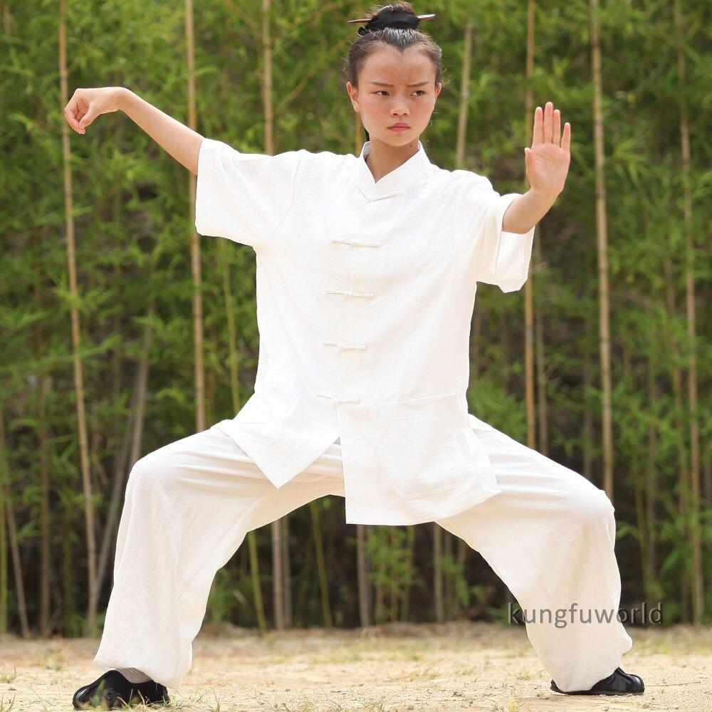 24 Farben Wudang Taoist Frauen Kurzarm Sommer Tai Chi Uniformen - Sportbekleidung und Accessoires - Foto 4