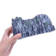 17,5 см Пластиковый трек поезд Rockery железная дорога туннель имитация пещеры сцена модель игрушка высокое качество