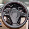 Sew-on genuine leather car steering wheel cover Car accessories For Old Mazda 3 Mazda 5 Mazda 6