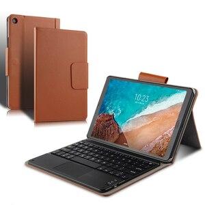 """Image 4 - Capa protetora para xiaomi mi pad 4 e 4 plus, capa de proteção, sem fio, bluetooth, teclado, couro pu, mipad4 plus 10, 10.1 """""""" estojo do tablet"""