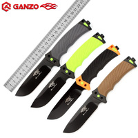 GANZO Firebird G803 Fixed Blade Knife With Sharper Rope Cutter Camping Hunting Survival Tactical bushcraft Knives With Sheath