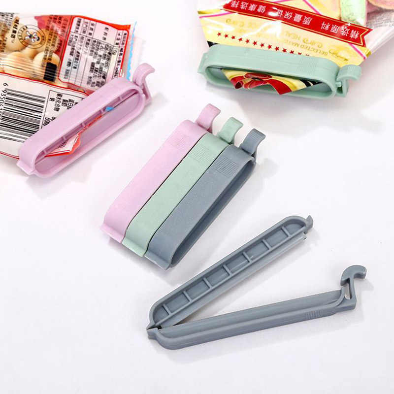 12 pçs/set Aferidor Do Saco de Plástico Lanche Saco de Armazenamento De Alimentos Frescos Clipes Ferramenta Acessórios de Cozinha Mini Vácuo Braçadeira de Vedação Alimentos Clipe