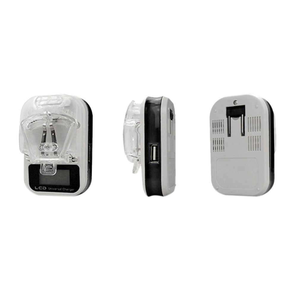 العالمي الولايات المتحدة التوصيل السفر LCD بطارية شاحن سامسونج لسوني ل LG USB جدار الهاتف المحمول شاحن LCD مؤشر الشاشة