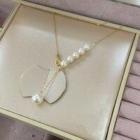 Female Pearl Pendant Necklace 2019 New Arrival Romantic Accessories Engagement Wedding Jewelry Elegant Women Pendant Chain
