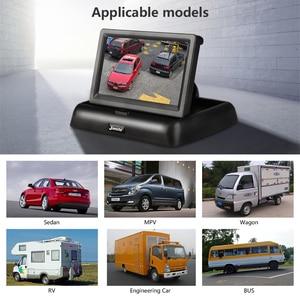 Image 3 - JMCQ 4.3 אינץ רכב צגי TFT LCD רכב צג אחורי תצוגה אחורית חניה מערכת + גיבוי הפוך מצלמה תמיכה DVD