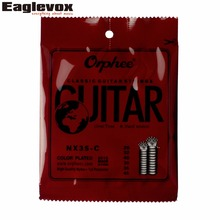 Color Plated Hard Tension Classic Guitar Strings 028/045″ High Quality Nylon Orphee NX35 – C